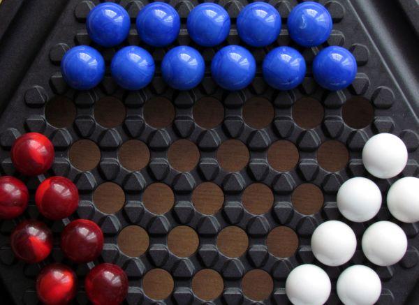 Abalone Quattro - připravená hra