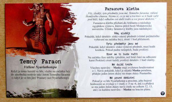 Arkham Horror: Prokletí temného faraona - karta