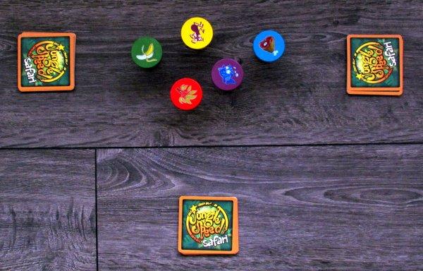 Jungle Speed: Safari - připravená hra