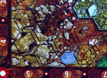 Neuroshima Hex - detail herního plánu