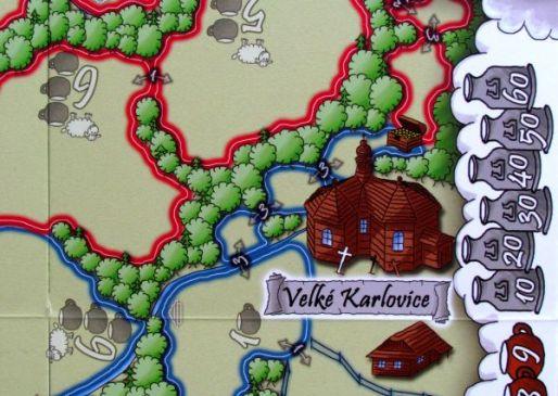 Valdojka - detail herního plánu