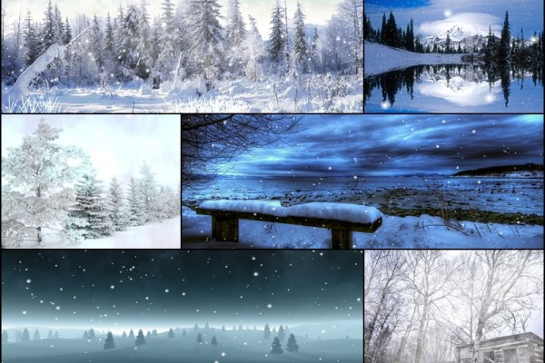 Winter Snow Animated Wallpaper Preview