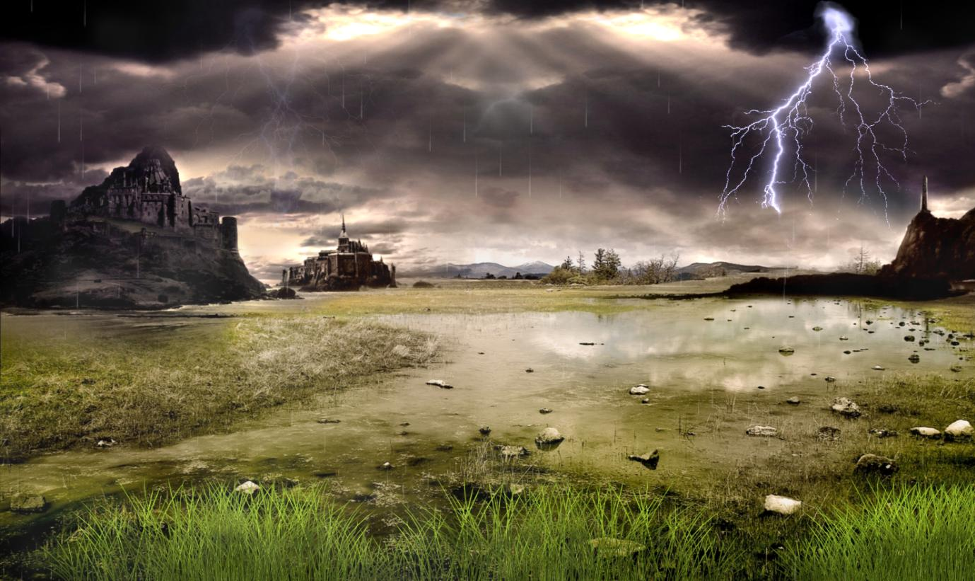Download Thunderstorm Field Animated Wallpaper