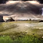 Thunderstorm Field Animated Wallpaper
