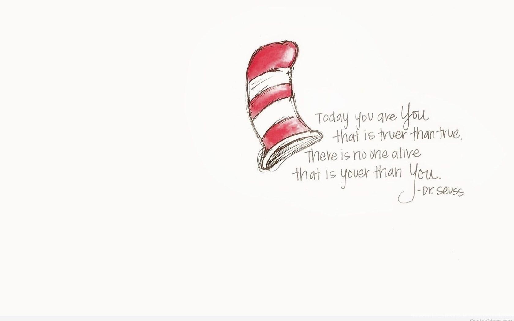 Quote Dr Seuss Desktop Background