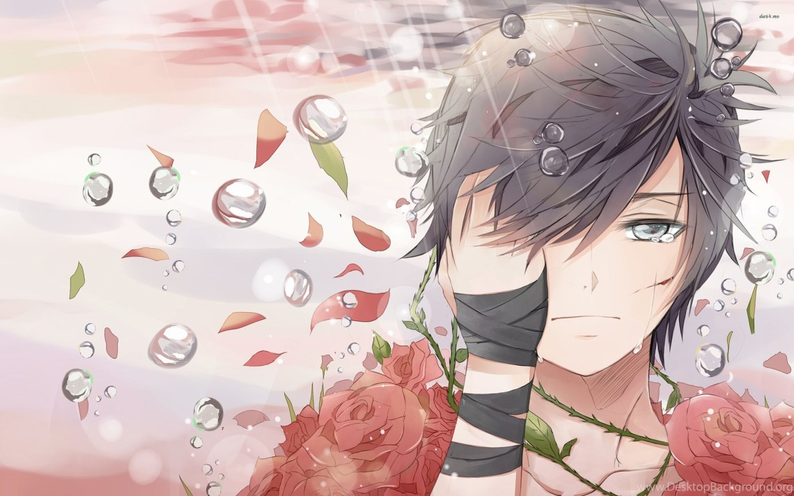 Sad Boy Covered In Roses Wallpapers Anime Wallpapers Desktop Background