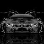 Plastic Car 2015 4k Bmw I8 Front Crystal City Car 2014 Bmw I8 Desktop Background