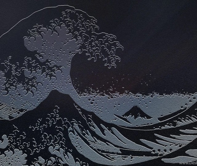 Waves Japanese Artwork The Great Wave Off Kanagawa Sea Wallpapers Desktop Background