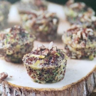 De muffins in het kookboek...