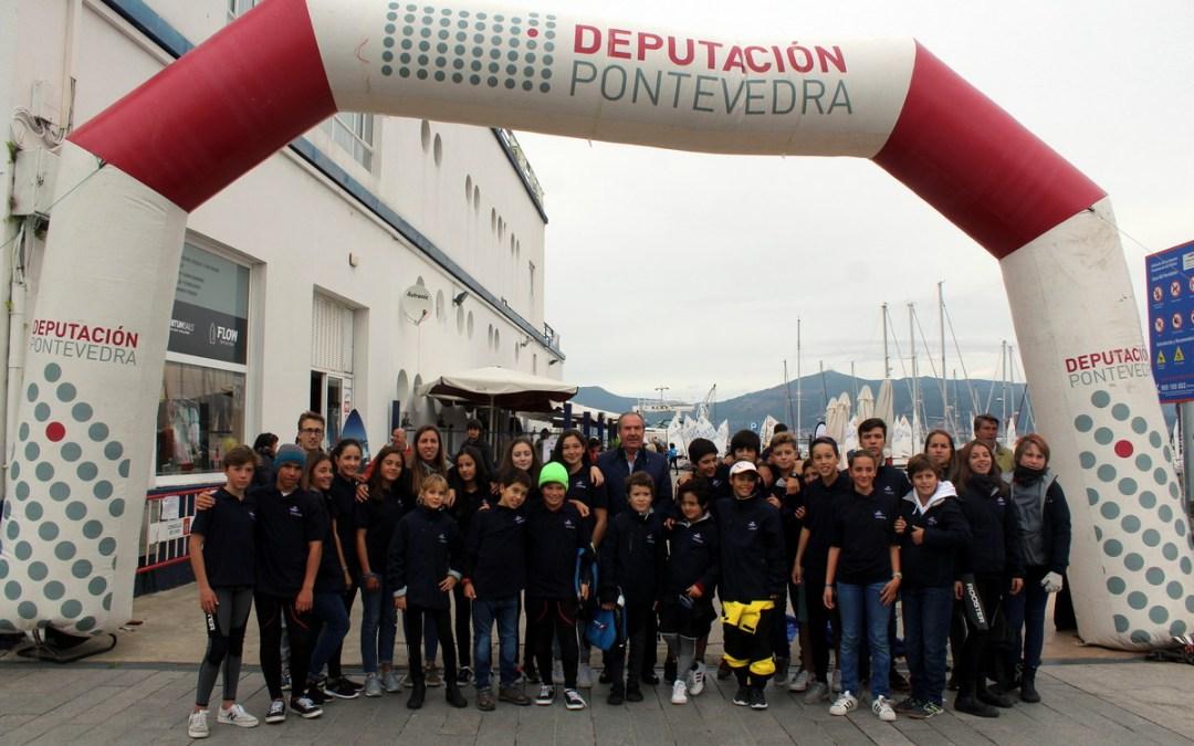 El Meeting Internacional Cidade de Vigo abre el circuito exclusivo de la Optimist Excellence Cup, con barcos de nueve países