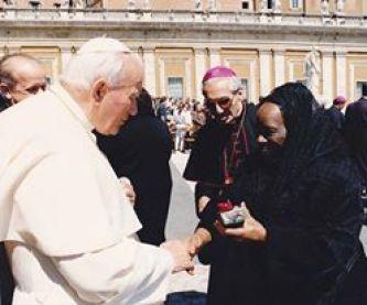 ZM con el Papa Juan Pablo II