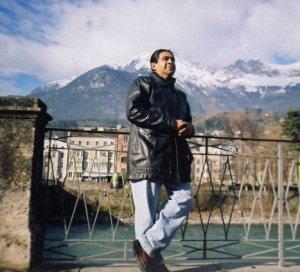 El poeta disfrutando el paisaje/ Foto:Cortesía