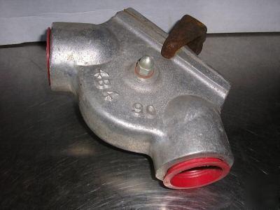 Varec 90DEG Aluminum Sheave Elbow W Uhmw Roller