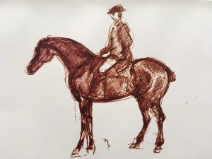 esmond Mac Mahon - Fine artist - London - Equestrian art - Horse in ink