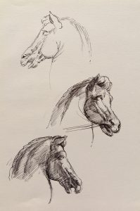 esmond Mac Mahon - Fine artist - London - Equestrian art - Horses