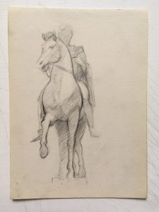 Desmond Mac Mahon - Fine artist - London - Equestrian art - Man on horse