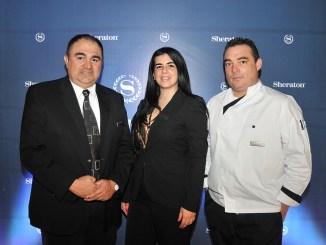 Franklin Araque, Aurora Sagredo y Marcos Fabian