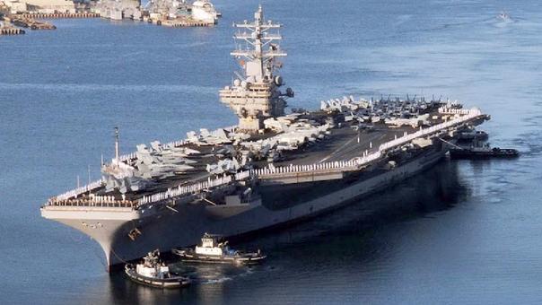 El USS Ronald Reagan tiene su puerto base en Yokosuka, en la costa este de Japón.