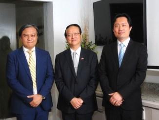 Ing. Ling Chen, presidente de la Cámara de Comercio de Taiwán en República Dominicana, Valentino Tang, Embajador de Taiwán en República Dominicana y Fernando Cheng, vice-presidente de la Cámara de Comercio de Taiwán en República Dominicana.