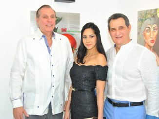 Douglas Saviñon, Yafreisy Castillo y Francisco Nader