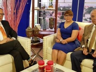 Trajano Potentini, Ramón Puello Báez y Ana Mercy Otáñez