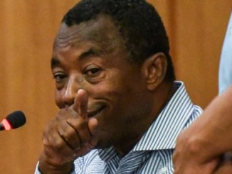 Blas Peralta mientras testificaba en el tribunal