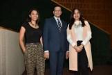 Paola Flores, Danilo Mejía y Mabel Damiron.