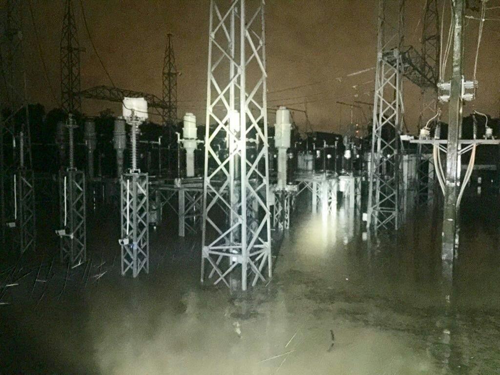 Lluvias inundan subestación eléctrica Nibaje en Santiago