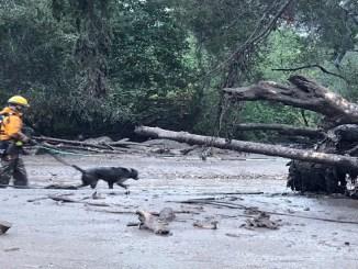 Aludes de lodo tras los incendios forestales en California