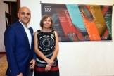 Alex Martinez Suarez y Guadalupe Casasnovas, curadores de la exposición.