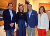 Tácito Cordero, Ana Mitila Lora, Jose Mella y Ginny Taulé.