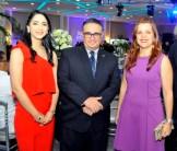 Noeli Ramírez, Luis Fernández y Vivian Acra.