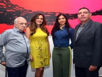 Jennaro González Pacheco, Lulú de Geraldino, Faracci Amaro y Gamal Michelén.