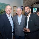 Francisco Domínguez Brito, Antonio Taveras Guzmán y Rajan Nazran.