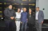 Los artistas Reye Ocre, Mirna Ledesma, el curador Amable Lopez Melendez, Judith Mora y Wali Vidal.