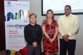 Ernesto Portillo, vicepresidente Antillian Service_ Elizabeth Gonzalez de Cambrigde University, y Manuel Perez Mirabal, Mescyt.
