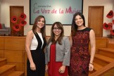 Marielle Valdez, Erika Sanchez y Saulina Sanchez.