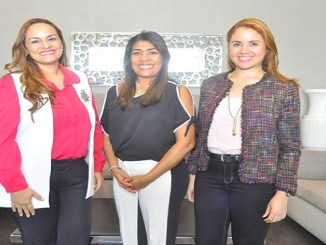 Austarti Peña, Raysa Hernandez y Nathali Senior.