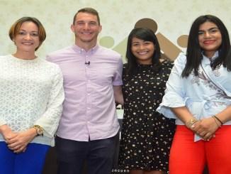 Lady Reyes, Brain Rashid Carolina Fernández y Francina Socias.