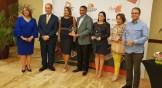 Luisa y Luis Felipe de Aquino junto a Yomaris Gómez, Ramón Paulino, Deyanira Papaterra y Luis José Chávez, reconocidos por la BTC
