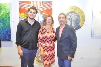 Ricardo Contreras, Tamara de Bodden y Juan Julio Bodden Leroux.