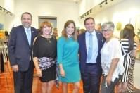 Cesar Prieto, Sandra Abinader, Aurora Garcia, Ramon Contreras y Gisela Contreras.