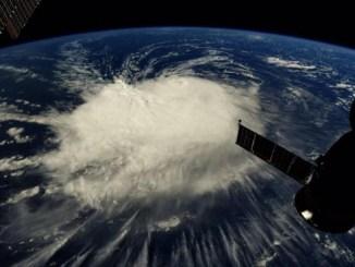 Florence aparece sobre el Atlántico en esta imagen tomada desde la Estación Espacial Internacional.