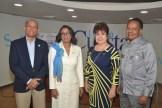 Angel Morel, Rosa Yunes, Virginia de Simo y Rudyard Montas.