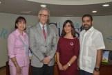 Martina Portalatin, Yordi Manelic Gasso, Hilda Garcia de Caminero y Jose Manuel Caminero.
