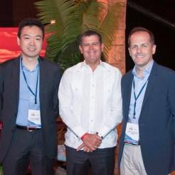 Claudio Hayashi, William Read e Ignacio Blanco.