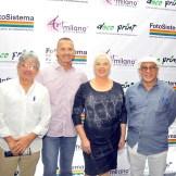 Pedrito Guzman, Andres Aspas, Yolanda Toca de Aspas y Juan Carlos Fernandez.