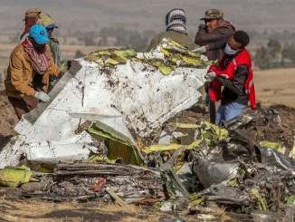 Fotografía del accidente del vuelo 302 de Ethiopian Airlines, en el que murieron 157 pasajeros.