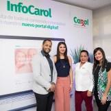 Amaury Cabrera, Dilcia Fontana, Wendy Ventura y Johanna Henríquez.