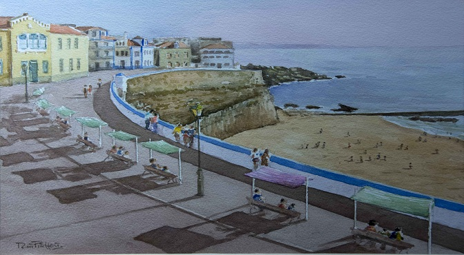 Lienzo que forma parte de la exposición del pintor portugués Rui Pinheiro.